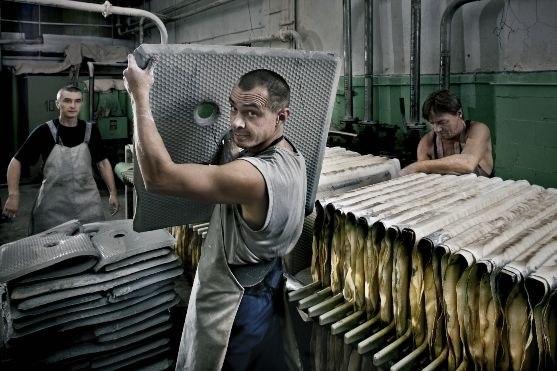 Porcelain mass manufacturing department
