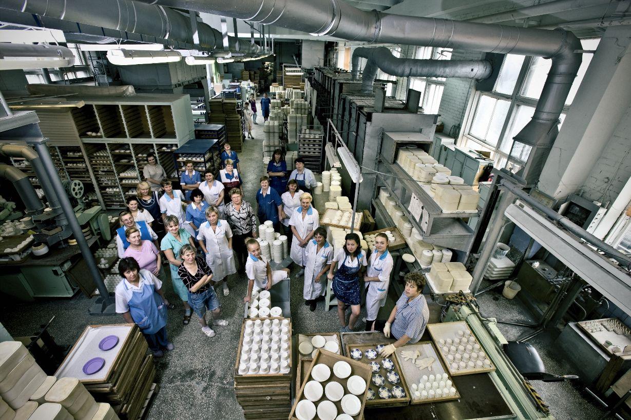 Bone china department