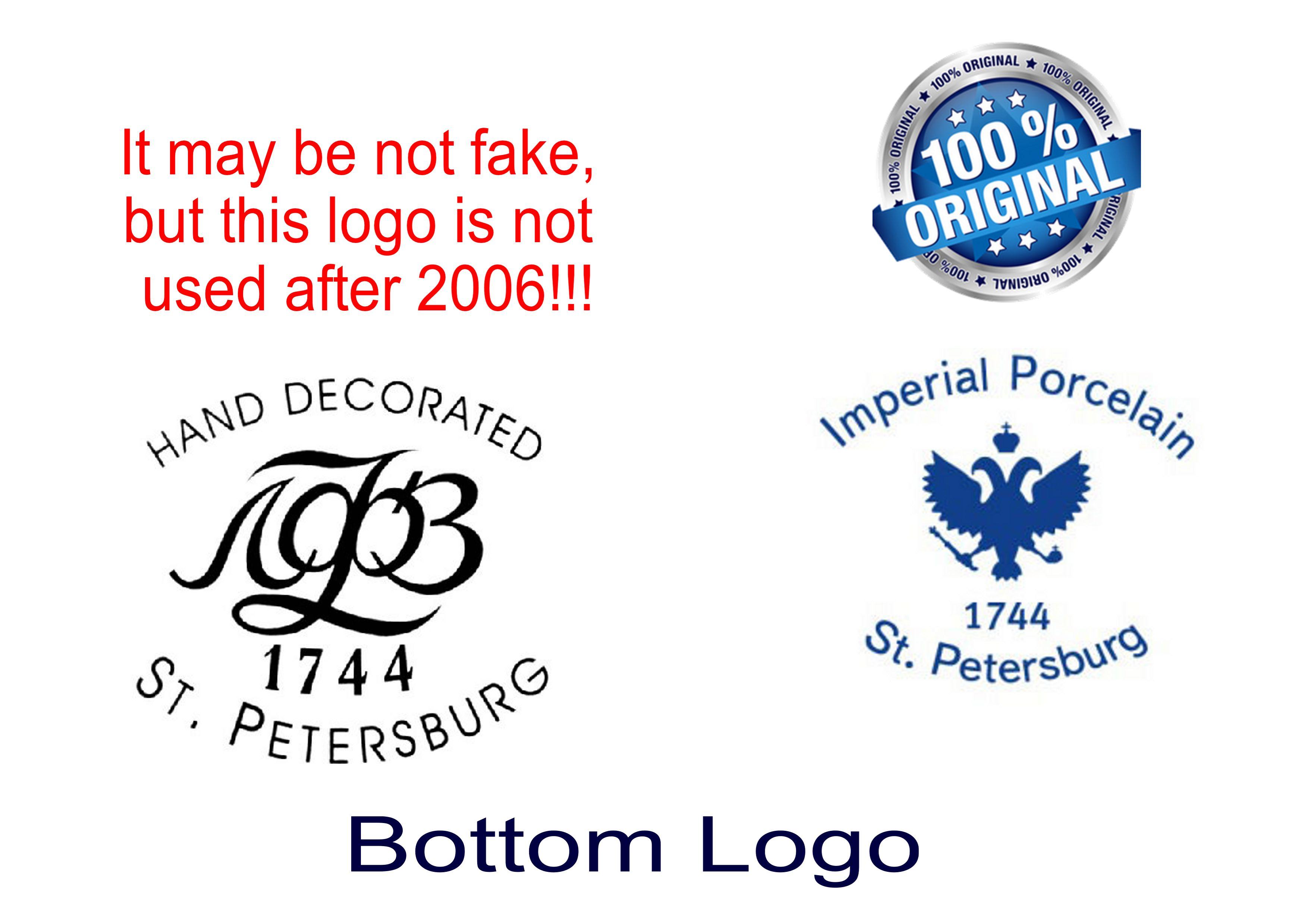 Imitation Fake Lomonosov Cobalt Net Porcelain