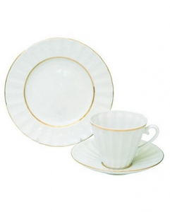 Imperial Porcelain Snow White I Tea Set 3pc