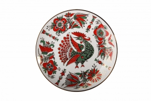 Decorative Wall Plate Red Fire Bird 7.7