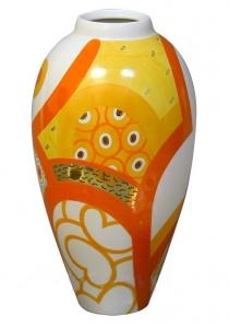 Flower Vase Lily Motive Lomonosov Imperial Porcelain
