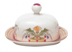 Lomonosov Imperial Porcelain Butter Holder Dish Moscow River