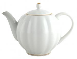 Lomonosov Imperial Porcelain Teapot Tulip Snow White 20 oz/600 ml