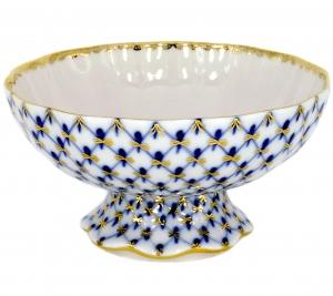Lomonosov Porcelain Candy Ice Cream Vase Cobalt Net 10.1 fl.oz/325 ml