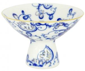 Lomonosov Imperial Porcelain Candy Ice Cream Vase Singing Garden
