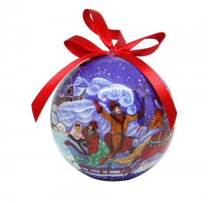 Christmas New Year Tree Decorative Ball Russian Troika