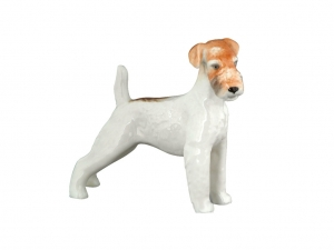 Fox Terrier Coarse-haired Dog Lomonosov Porcelain Figurine
