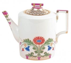 Lomonosov Imperial Porcelain Coffee Pot Moscow River 32.3 oz/955 ml