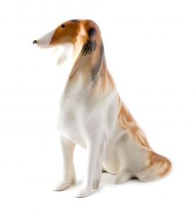 Collie Dog Lomonosov Imperial Porcelain Figurine