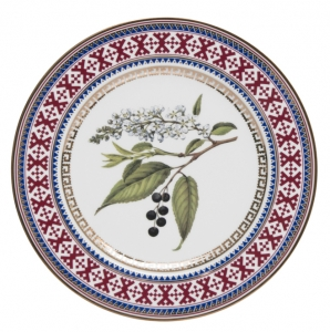Decorative Wall Plate Bird-Cherry Tree 10.6