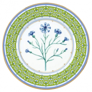 Decorative Wall Plate Blue Cornflower 10.6