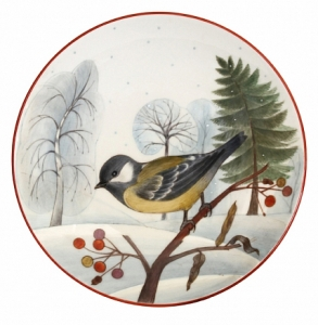 Decorative Wall Plate Blue Tit 7.7