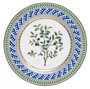 Decorative Wall Plate Blueberry 10.6