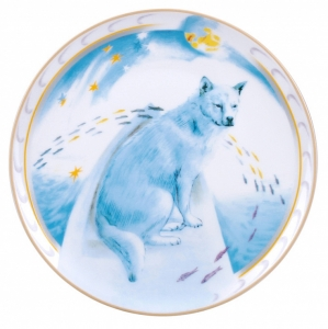 Decorative Wall Plate 2018 Year of Dog Husky in a Boat 7.7