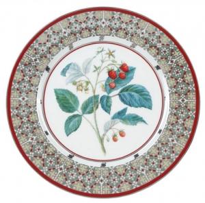 Decorative Wall Plate Sweet Raspberry Lomonosov Imperial Porcelain