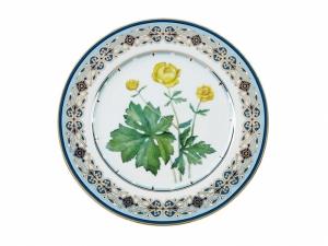 Decorative Wall Plate Trollius Lomonosov Porcelain