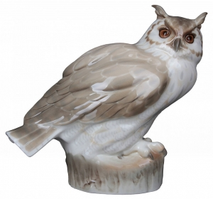 Eagle-Owl Lomonosov Imperial Porcelain Figurine