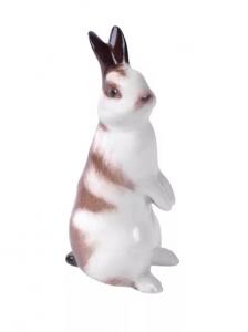 Easter Bunny Rabbit Standing Lomonosov Imperial Porcelain Figurine