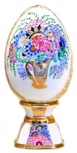 Easter Egg on Stand Bouquet Lomonosov Imperial Porcelain
