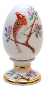 Easter Egg on Stand Bunting Bird Lomonosov Imperial Porcelain