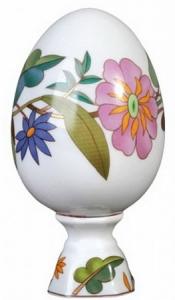 Easter Egg on Stand Colorful Wreath Lomonosov Imperial Porcelain