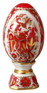 Easter Egg on Stand Magic Fire-Bird Lomonosov Imperial Porcelain