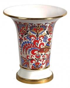 Flower Vase Empire Style Cockerels Lomonosov Imperial Porcelain