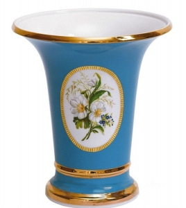 Flower Vase Empire Style Forget-me-Not Lomonosov Imperial Porcelain