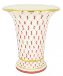 Flower Vase Empire Style Red Net Lomonosov Imperial Porcelain