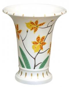 Flower Vase Empire Style Tiger Orchid Lomonosov Imperial Porcelain