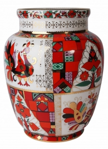 Flower Vase Magic Fire-Bird Lomonosov Imperial Porcelain