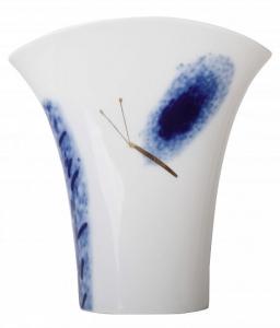 Flower Vase Morning Flower Blue Butterfly Lomonosov Porcelain