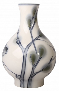 Flower Vase Willow Lomonosov Imperial Porcelain