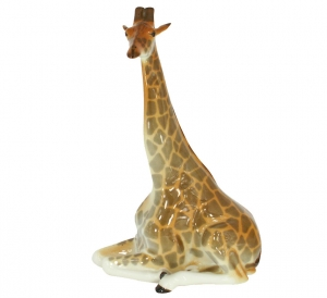 Giraffe Figurine with Long Neck Lomonosov Imperial Porcelain