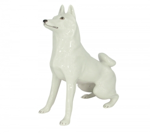 Husky Dog Lomonosov Porcelain Figurine