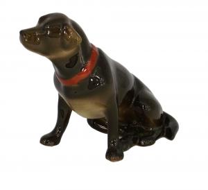 Labrador Dog Brown Chocholate Colored Lomonosov Porcelain Figurine