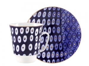 Lomonosov Bone China Porcelain Coffee Cup May Clear 5.6 fl.oz 165 ml 2 pc