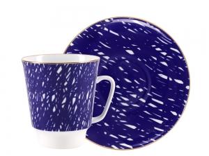Lomonosov Bone China Porcelain Coffee Cup May Cool 5.6 fl.oz 165 ml 2 pc