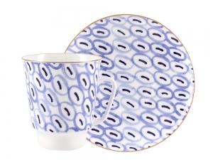 Lomonosov Bone China Porcelain Coffee Cup May Easy 5.6 fl.oz 165 ml 2 pc