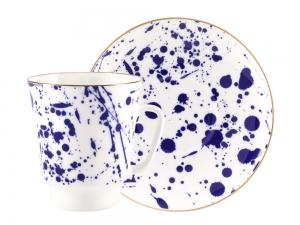Lomonosov Bone China Porcelain Coffee Cup May Splash