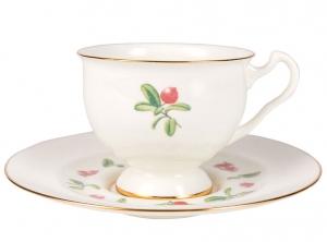 Lomonosov Imperial Bone China Tea Set Aisedora Foxberry 8.1 oz240 ml