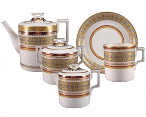 Lomonosov Imperial Porcelain Tea Set Belvedere