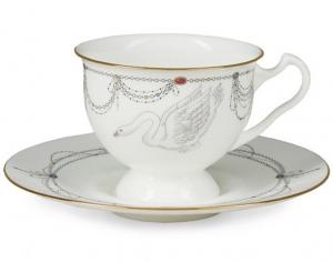 Lomonosov Imperial Porcelain Bone China Cup and Saucer