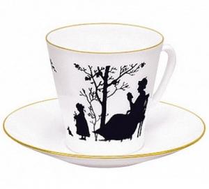 Lomonosov Imperial Porcelain Bone China Espresso Cup and Saucer Family