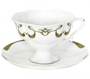 Lomonosov Imperial Porcelain Bone China Cup and Saucer Fiona