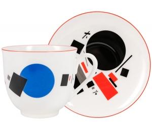 Lomonosov Imperial Porcelain Bone China Cup and Saucer Kaleidoscope