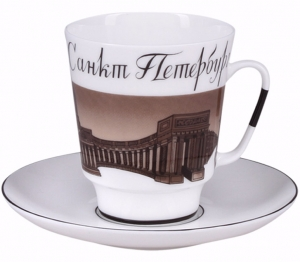 Lomonosov Imperial Porcelain Bone China Cup and Saucer May Good-bye St.Petersburg (2)