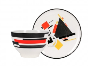 Lomonosov Porcelain Bone China Tea Cup 2pc Apple Movement 5.4oz 160ml