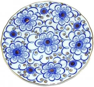 Lomonosov Imperial Porcelain Cake Dessert Plate Bindweed 7